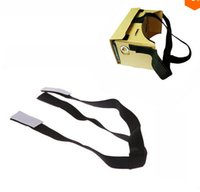 Wholesale DIY vr Virtual Reality D Glasses Head Mount Strap For Google Cardboard Good Quality Brand New