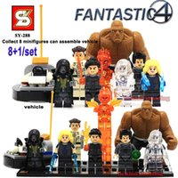 arrival ect - Newest Arrival SY288 Fantastic Four Minifigures set Mr Fantastic Dr Doom The Thing ect VS Shengyuan Decool Building Blocks