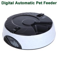 Wholesale Hot Sale White LCD Digital Meal Automatic Pet Feeder Meal Dispenser Bowls with Recorder