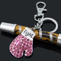 Acheter Porte-clés ruban-Breast Cancer Awareness Bijoux Pink Ribbon, Bijoux Sport Cadeau, Gants Fighting Box Keyrings Ruban Rose Gants Porte-clés Porte-clés