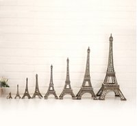 Wholesale New Household Metal Crafts Bronze Paris Eiffel Tower Figurine Statue Vintage Alloy Model Decor free shopping