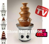 Wholesale NO Store Chocolate Fountain Fondue Event Wedding Children Birthday Festive Party Supplies Christmas Waterfall Machine
