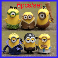 Wholesale 2016 New Model Despicable Me Minion Action Minions Toys Doll Cosplay Vampire Primitive Pirate Toys Minions Action Figure Toys