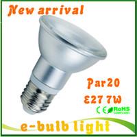 120v led light bulb - LED PAR20 E27 led spotlight W light bulb waterproof SMD5730 lamp E27 led v v v V