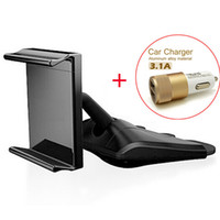 Wholesale Universal authentic Korean phone mount holder CD holder CD smartphones support A A Dual USB port USB car charger combination