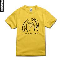 beatles shirt men - Imagine John Lennon T shirt Men Women T shirt The Beatles Rock cotton short sleeves High Quality Top Tee tshirt