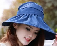 Wholesale Women foldable Visors Floppy Summer UV Protection Beach Sun Hat Dome fishing Cap bucket hat color