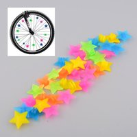 Wholesale Hot Beautiful Plastic Colorful Colored Multi color Bike Bicycle Cycling Wheel Spoke Stars Beads