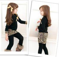 Organic Grain - 2015 New Arrival Children Dress Long Sleeve Leopard grain Girls Princess Dresses Child Clothes Free Delivery D116M
