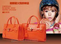 Wholesale 2015 luxury brand new women lady tote handbag designer lock fashion shoulder bag Women s Handbag PU Leather Shoulder Bags colors orange