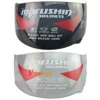 Wholesale anti fog Marushin visor full face helmets glass Marushin helmet transparent clear black lens