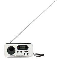 emergency radio - Top Quality NOAA Weather Radio AM FM LED Flashlight Solar Crank Power Emergency Charger Y4345B