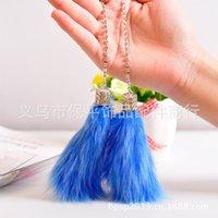 Wholesale Explosion models genuine DAD fox hair car hang pure handmade creative senior pendant