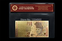 banknote values - Antique imitation craft Colorful Malaysia Banknote RM With COA K Gold Foil Plated With Far Value Collectible
