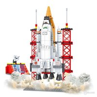 Cheap Boys Aviation rockets Model Building Kits Spaceship Rocket launcher models Learning Education Toys High Quality retails P30-64