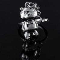 asimo robot - 100pc Top Fashion Asimo Robot key chains keychain key holders key ring for honda auto car styling