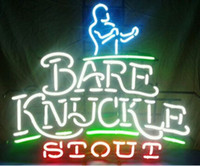 beer stout - New Bare Knuckle Stout Neon Sign Handcrafted Custom Commercial Real Glass Tube Beer Bar KTV Club Pub Advertising Display Neon Signs quot X28 quot
