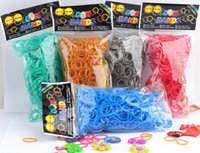 Wholesale metal color rubber fashion loom bands rubber bands bands s clips and one pin with a opp bag with header