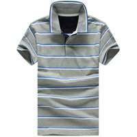 summer clothes for men - Summer Mens Polo T Shirts Sport Stripe Grey Red Blue Small Horse Camisas Polo For Men Clothing