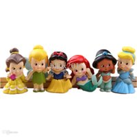 baby ariel doll - Set of Chunky Baby Toddler Princess quot Figures Featuring Tinker Bell Snow White Jasmine Cinderella Belle and Ariel toy