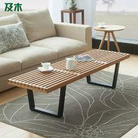 Wholesale Nordic creative simple fashion living room modern furniture solid wood large coffee table tea table