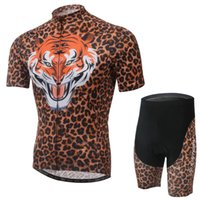 Wholesale Tiger Cycling Sets Outdoor Cycling Wear Bicycle Jersey Team Cycling Clothes