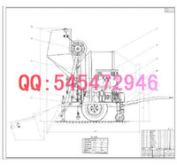 Wholesale JZM350 cone reversal discharging mixer drawings Full Machining drawings ATUO CAD