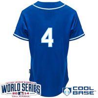 baseball jerseys - Alex Gordon Navy Blue World Series Patch Baseball Cool Base Jerseys Authentic Stitched Jersey Softball Sportswear