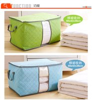 bamboo fabric clothing - 2015 Home Blanket Quilts Pillow Clothes Storage Bag Case Handles Underbed Storage Bag Bamboo woven storage box