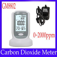 Wholesale Carbon dioxide detectors meter GM8802 measure range ppm
