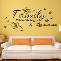 wall stickers home decor - Creativity Family Wall Stickers Home Decor adesivo de parede Vinyl Wall Sticker Decals Mural Home decoration