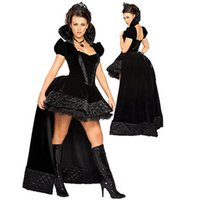 Wholesale Black Halloween Costume Sexy Lingerie Mystical Witches Costumes Fashion Cosplay Prom Dresses Backless Women s Clothing