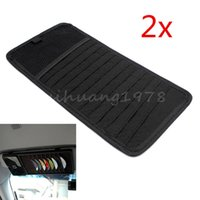 Wholesale 2X12 Disc Car Auto CD DVD Visor Disk Card Case Holder Clipper Organizer Storage Bag Black Car Styling Interior Stowing Tidying order lt no t