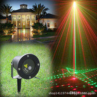 Wholesale 20 Patterns Outdoor Waterproof Laser Lights Elf Red Green Christmas Lights RG Laser Decoration Projector for Garden Remote Controller