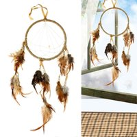 Wholesale New fashion Bohemian Dream Catcher Circular With Indian Feathers Wall Hanging Decoration Decor Craft dream catcher J0905