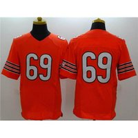 Cheap Orange American Football Jerseys #69 Mens Elite Football Kits Top Quality Football Uniforms Discount Football Shirts Cool Teams Sportswear