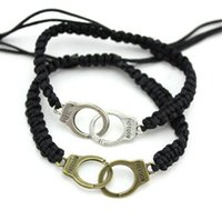 handcuffs - 2014 Fashion handcuffs bracelet rope bracelets handmade vintage charm bracelets with color good gift for couples