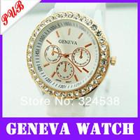 alibaba express - Drop shipping elegant women girls geneva diamond watches quartz candy jelly band watch Alibaba Express