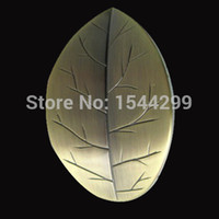 bathroom cabinets antique - Leaf Zinc Alloy Antique Brass Copper Plating Kitchen Handles Cabinet Drawer Bathroom Pulls Cartoon Desk Knob Kids