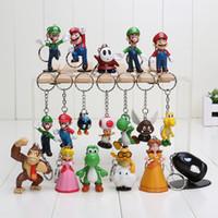 Wholesale Super Mario keychain Luigi Action Figures set youshi mario Gift