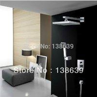 Wholesale Luxury Brass Bath Shower Set inch square free streem shower head faucet bathroom rain faucet shower taps