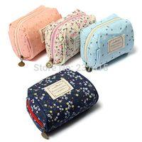 Cheap Flower Purse Makeup Zipper Pouch Storage Clutch Lady Wallet Bag Case Coin Card
