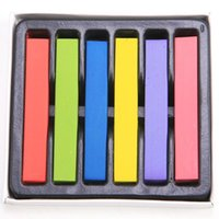 Wholesale 6 Colors Fashion Color Hair Chalk Dye Pastels Temporary Pastel Hair Extension Dye Chalk M01050a