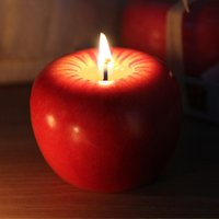 Wholesale Perfect Christmas Gift New Arrivals Red Apple Candle Home Docor Romantic Birthday Party Decorations Apple scented candles Free DHL or FedEx