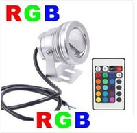 Wholesale 10W RGB Flood light Underwater led aquarium lamp swimming pool Waterproof IP65 DC V V V Convex Lens