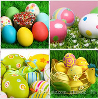Wholesale Gift for kid Funny kitchen toy mother garden educational wooden toy emulational egg play house DIY Easter egg shell painting LJJC1200