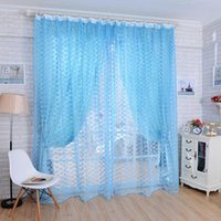 Wholesale 100 High Quality Brand New Rose Flower Print Tulle Voile Door Window Curtain Panel Sheer Screen Curtain For Bed Living Room