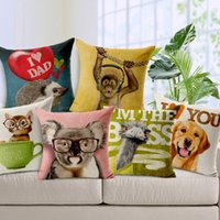 Wholesale Creative Home Pillow Case Cartoon Animals Printed Pillow Cover Korean Style Bedding Supplies EHE105