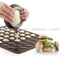 silicone baking sheets - Macaron Baking Mat Silicone Tray Cake Mould Pastry Sheet Muffin Tray Reusable Macaroon Silicone Baking Pastry Sheet Mat Mold Tray LJJE135