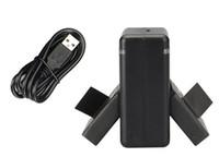 Wholesale 2PCS Xiaomi Yi Action Camera Battery AZ13 V mAh Li ion Battery Battery Charger Charging Dock set